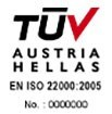 """TUV AUSTRIA – Management System as per EN ISO22000 : 2005 Preparation and provision of meals within the hotel establishments."""