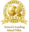 """Greece's Leading Island Villas"" for 2018 in the World Travel Awards"