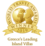 Awarded as ''Greece's Leading Island Villas Nomination 2019'' in the World Travel Awards