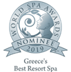 "Nominated as ""Greece's Best Resort Spa 2019"" in the World Spa Awards"