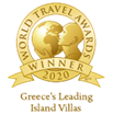 "Awarded as ""Greece's Leading Island Villas 2020"" in the World Travel Awards"