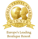 "Awarded as ""Europe's Leading Boutique Resort 2020"" in the World Travel Awards"