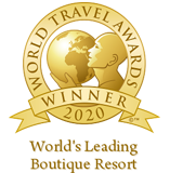"Awarded as ""World's Leading Boutique Resort 2020"" in the World Travel Awards"